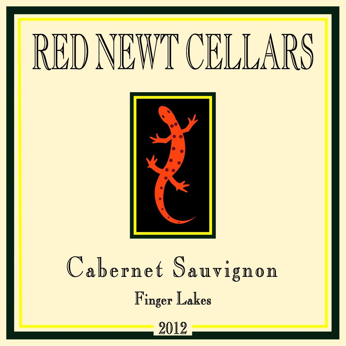 Red Newt Cellars Cabernet Sauvignon 2012 Front Label