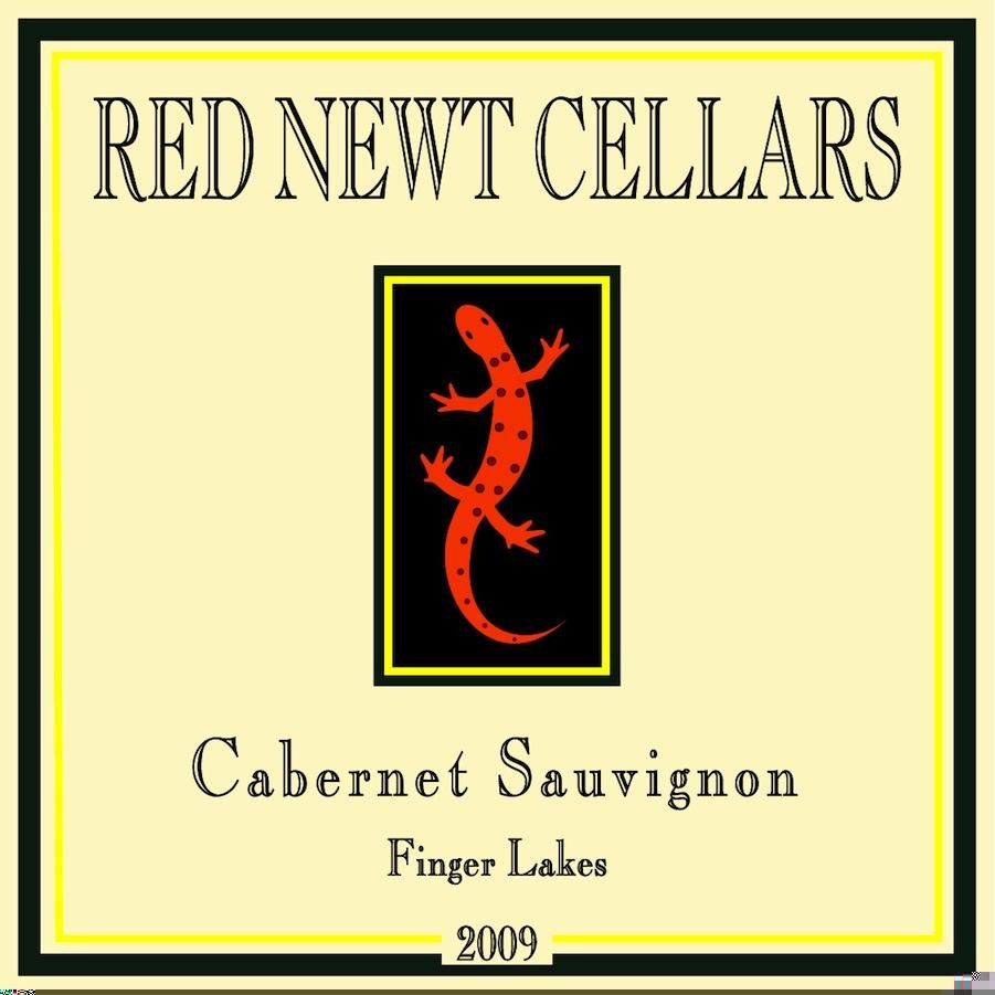 Red Newt Cellars Cabernet Sauvignon 2009 Front Label