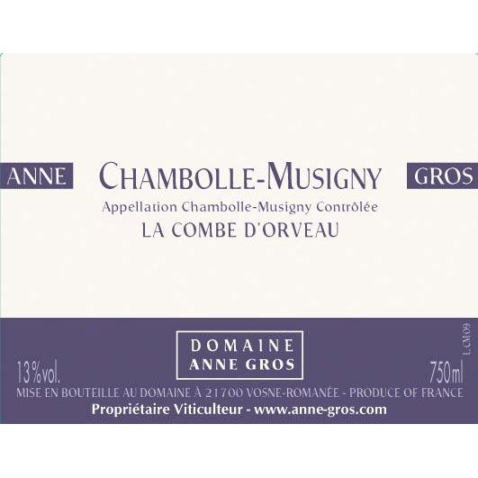 Domaine Anne Gros Chambolle-Musigny La Combe d'Orveau 1998 Front Label