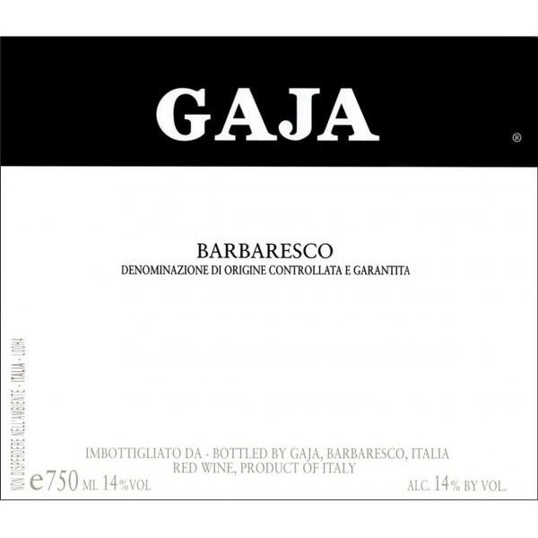 Gaja Barbaresco 1979 Front Label