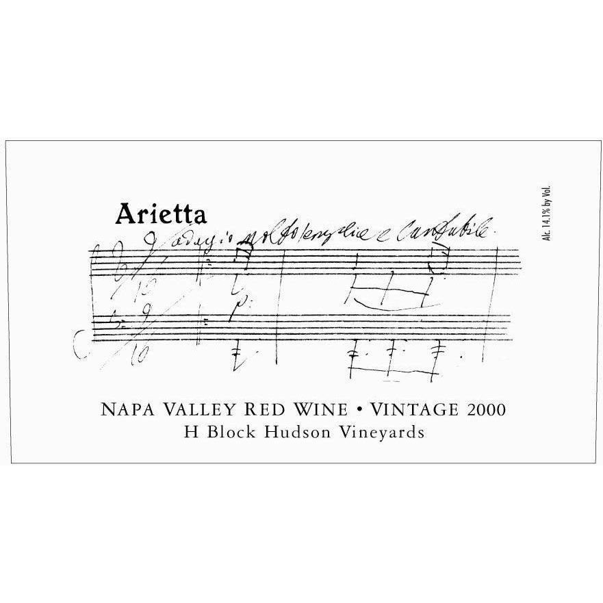Arietta H Block Hudson Vineyards Red Blend 2000 Front Label