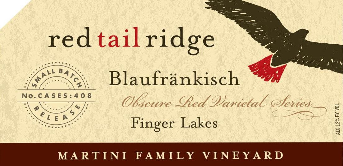 Red Tail Ridge Martini Family Vineyard Blaufrankisch 2013 Front Label