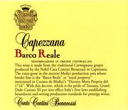 Capezzana Barco Reale 1998 Front Label
