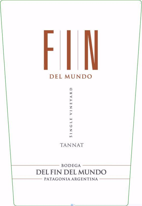 Bodega Del Fin del Mundo FIN Single Vineyard Tannat 2013 Front Label