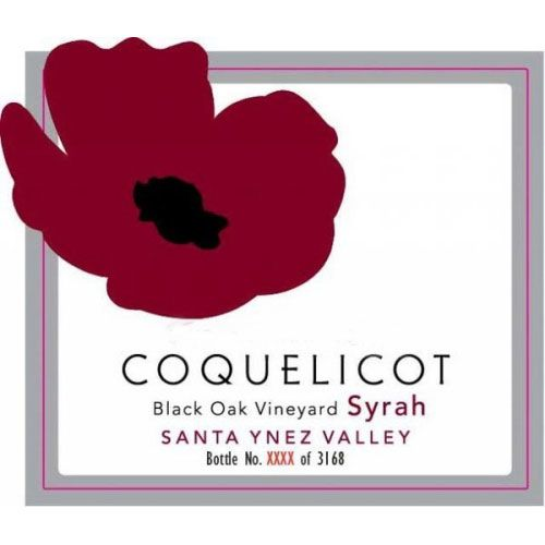 Coquelicot Estate Vineyard Black Oak Vineyard Syrah 2011 Front Label
