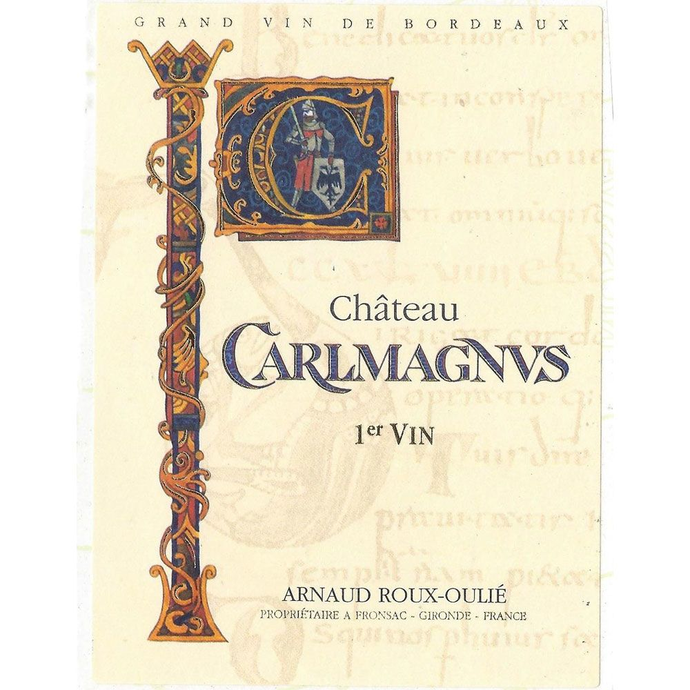 Chateau Carlmagnus  2016 Front Label