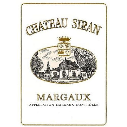 Chateau Siran  2016 Front Label