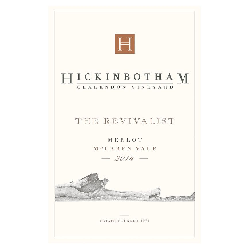 Hickinbotham The Revivalist Merlot 2014 Front Label