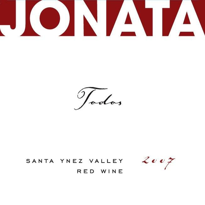 Jonata Todos Proprietary Red Wine 2007 Front Label