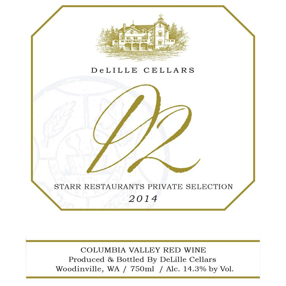 DeLille D2 Estate Red 2014 Front Label