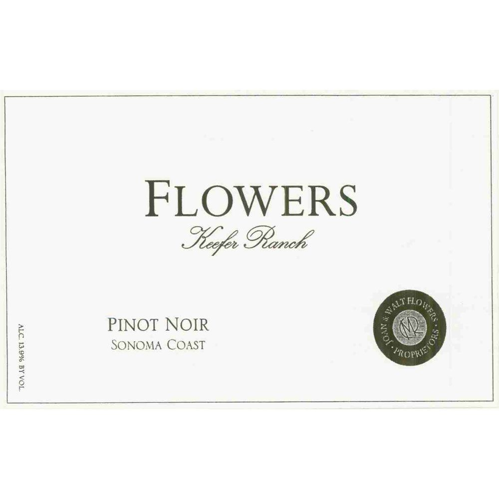 Flowers Keefer Ranch Pinot Noir (torn label) 2000 Front Label
