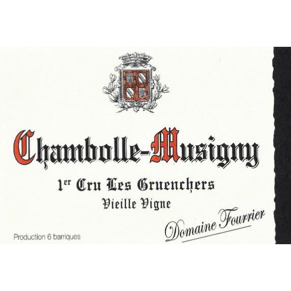 Domaine Fourrier Chambolle-Musigny Les Gruenchers Premier Cru Vieille Vigne 2002 Front Label