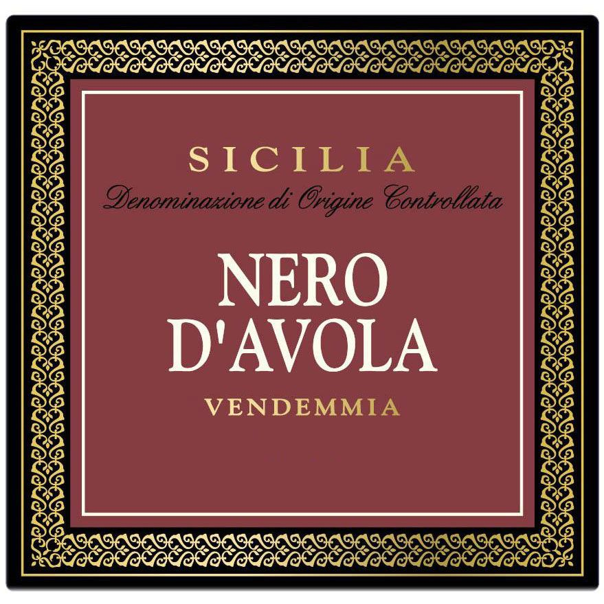 Morgante Nero d'Avola 2014 Front Label