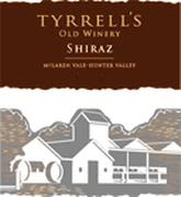 Tyrrell's Old Winery Shiraz 1996 Front Label