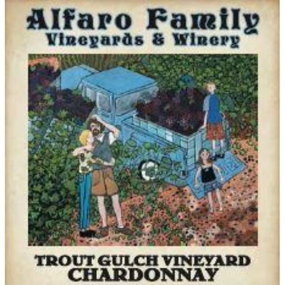 Alfaro Family Trout Gulch Vineyard Chardonnay (375ML half-bottle) 2015 Front Label