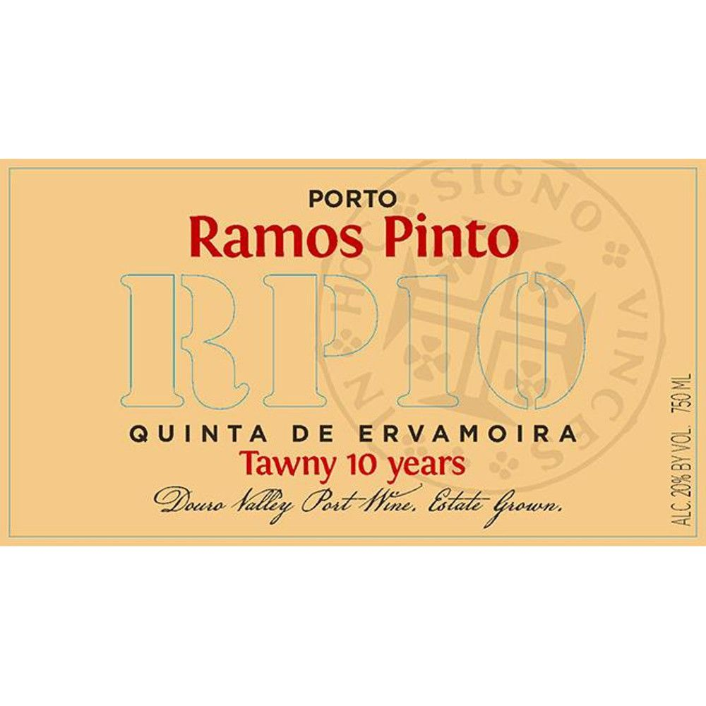 Ramos Pinto 10 Year Tawny Ervamoira Front Label
