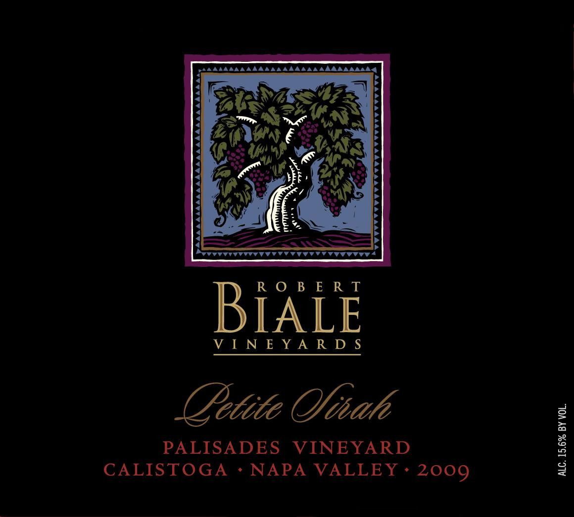 Robert Biale Vineyards Palisades Vineyard Petite Sirah 2009 Front Label