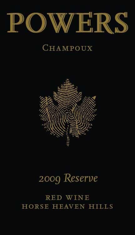 Badger Mountain Powers 'Champoux Vineyard' Reserve Red Blend 2009 Front Label