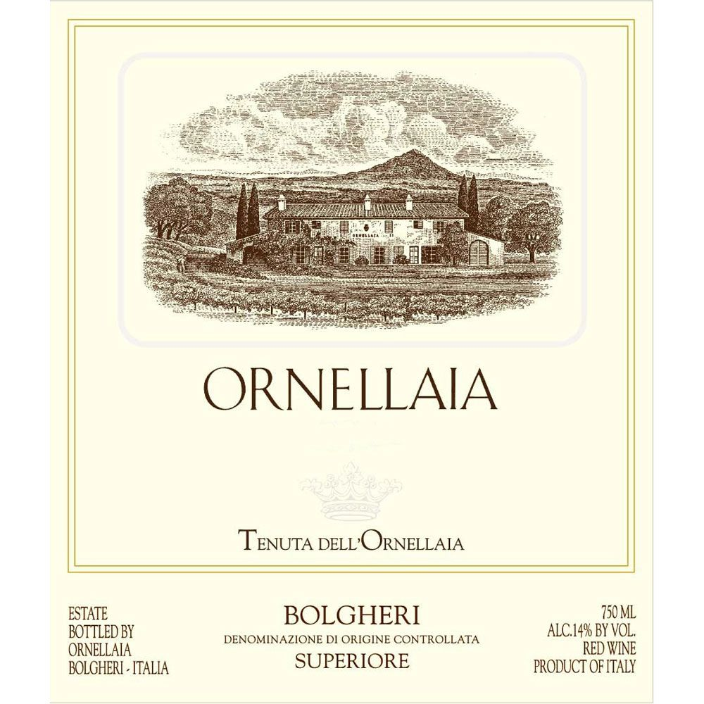 Ornellaia (3 Liter Bottle) 2014 Front Label