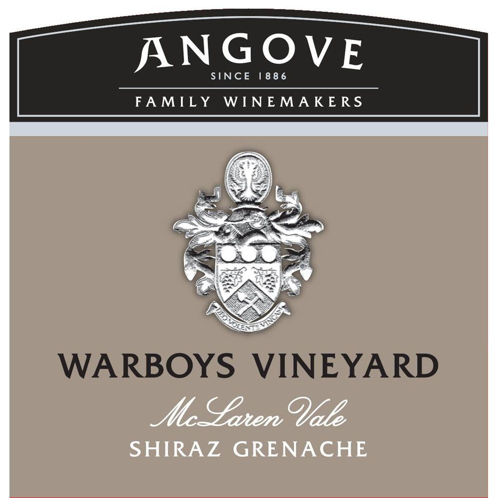 Angove Family Winemakers Warboys Vineyard Shiraz-Grenache 2014 Front Label