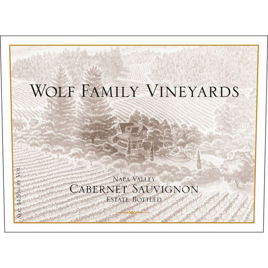 Wolf Family Vineyards Cabernet Sauvignon 2001 Front Label
