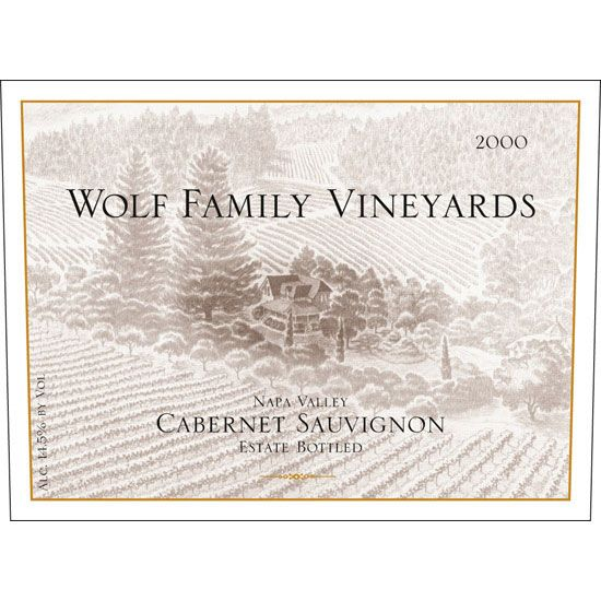 Wolf Family Vineyards Cabernet Sauvignon 2000 Front Label