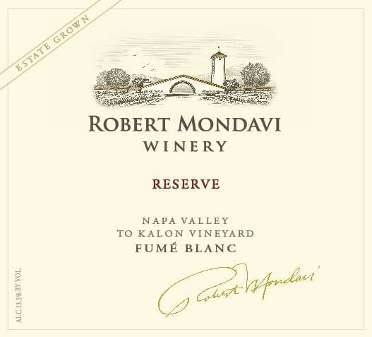 Robert Mondavi Reserve To Kalon Vineyard Fume Blanc 2014 Front Label