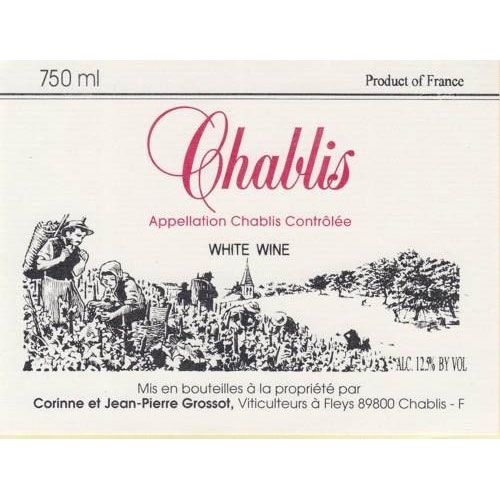 Grossot Chablis 2015 Front Label