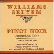 Williams Selyem Russian River Valley Pinot Noir 2003 Front Label
