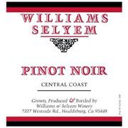 Williams Selyem Central Coast Pinot Noir 2000 Front Label
