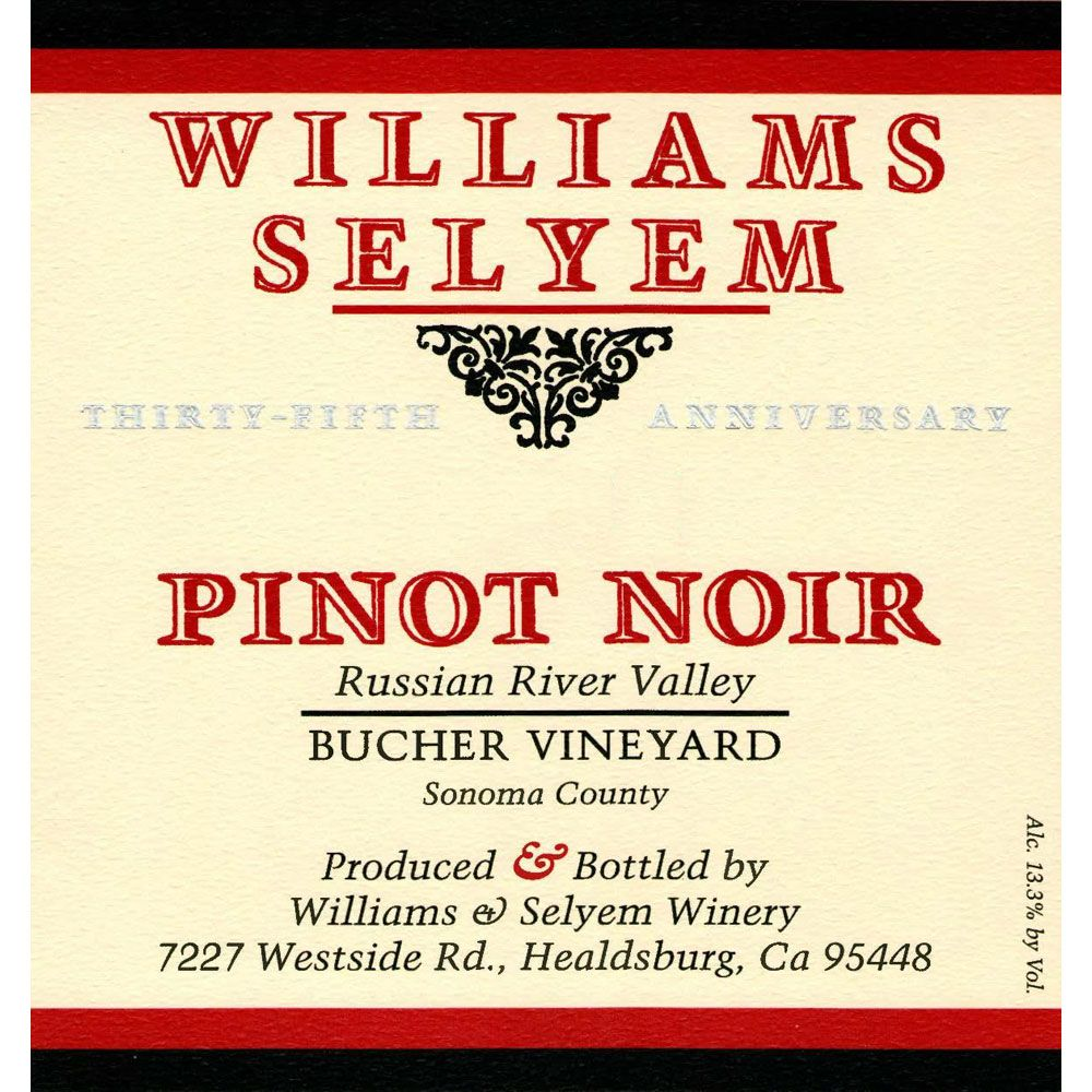 Williams Selyem Bucher Vineyard Pinot Noir 2004 Front Label