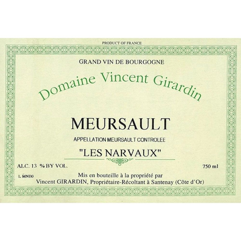 Vincent Girardin Meursault Les Narvaux (375ml half-bottle) 2004 Front Label