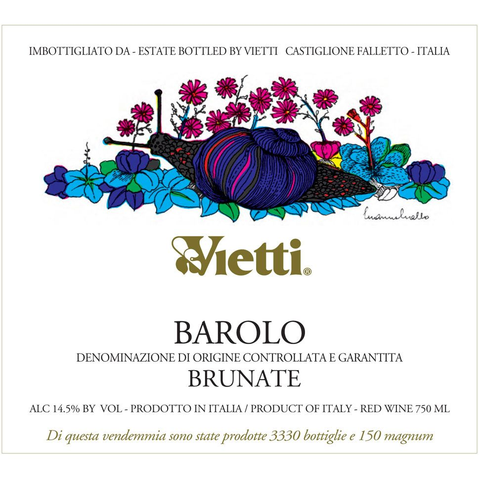 Vietti Barolo Brunate 1989 Front Label