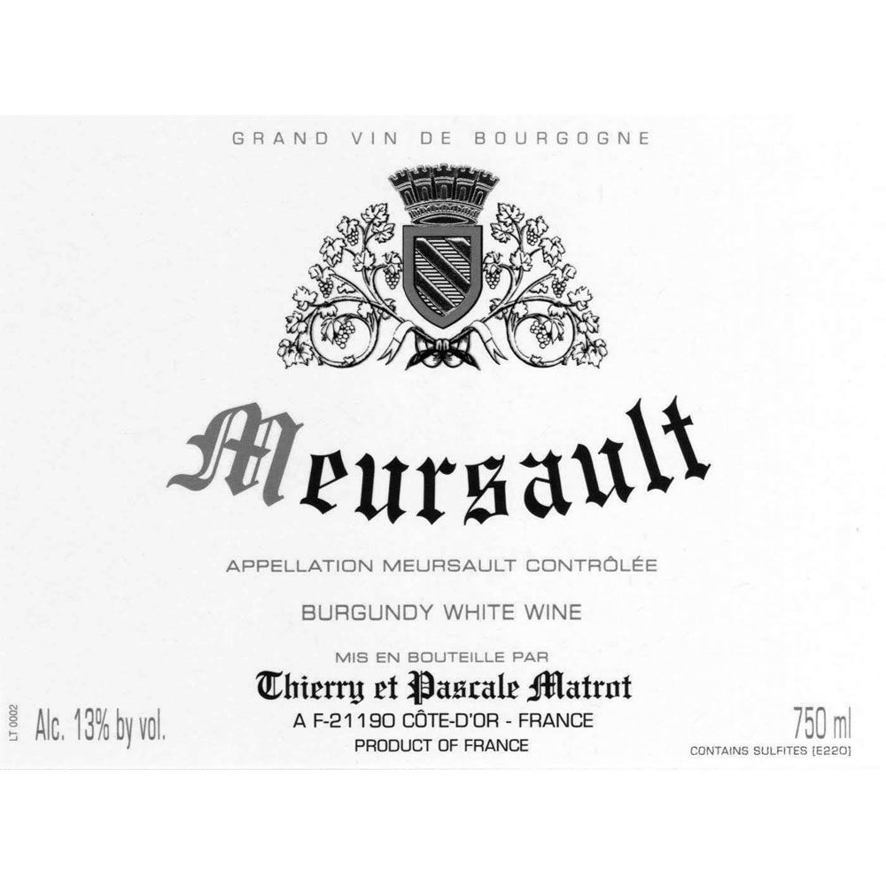 Domaine Matrot Meursault (375ML half-bottle) 2005 Front Label