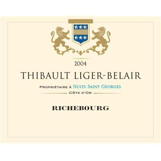 Domaine Thibault Liger-Belair Richebourg Grand Cru (torn back labels) 2004 Front Label