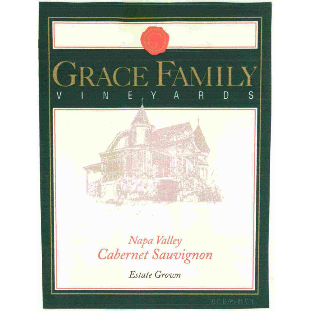 Grace Family Cabernet Sauvignon 1990 Front Label