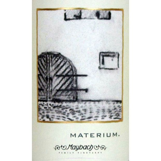 Maybach Family Vineyards Materium 2004 Front Label