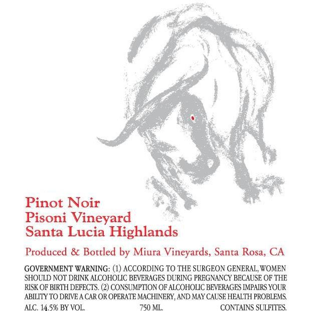 Miura Vineyards Pisoni Vineyard Pinot Noir 2002 Front Label