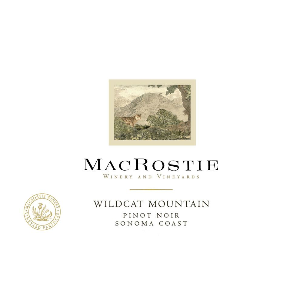 MacRostie Wildcat Mountain Vineyard Pinot Noir 2014 Front Label