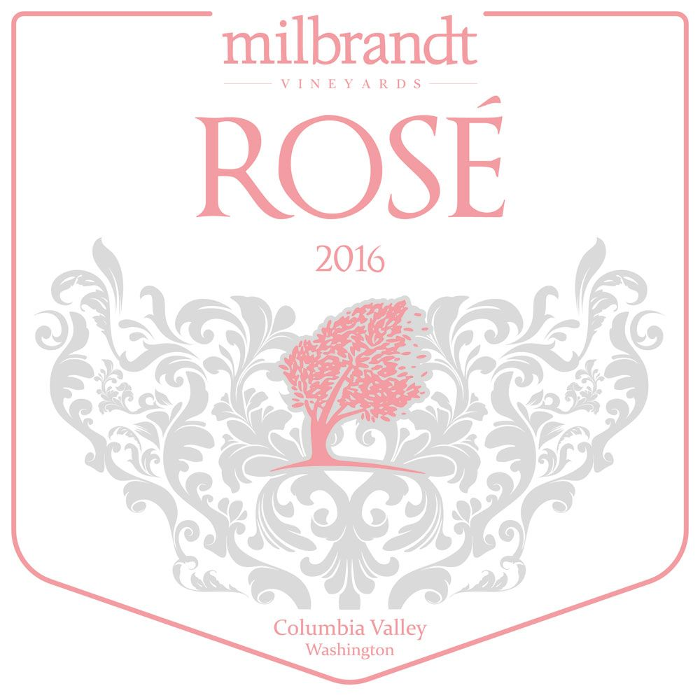 Milbrandt Traditions Rose 2016 Front Label