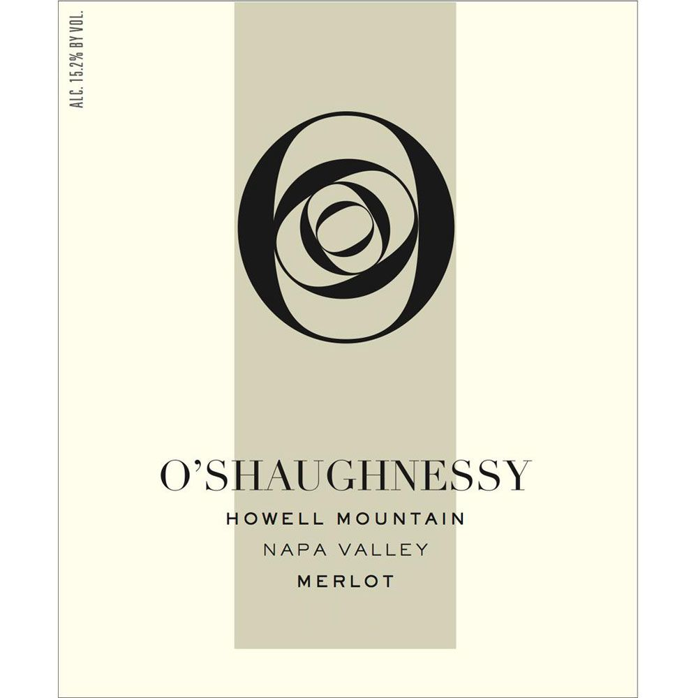 O'Shaughnessy Howell Mountain Merlot 2004 Front Label