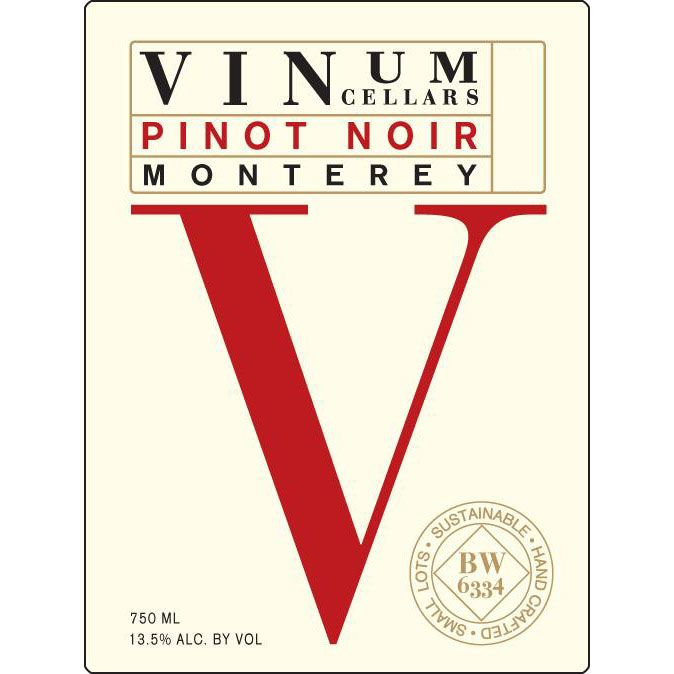 Vinum Cellars Pinot Noir 2015 Front Label