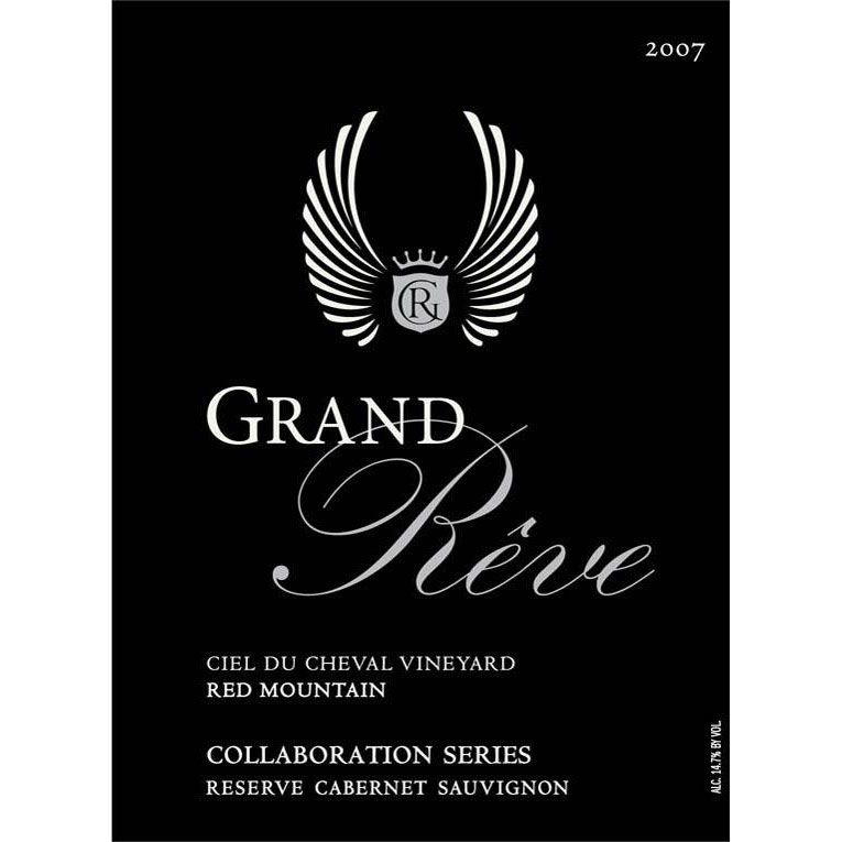 Grand Reve Collaboration Series Reserve Cabernet Sauvignon 2007 Front Label