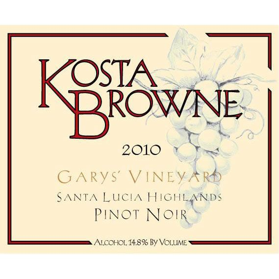 Kosta Browne Garys' Vineyard Pinot Noir 2010 Front Label
