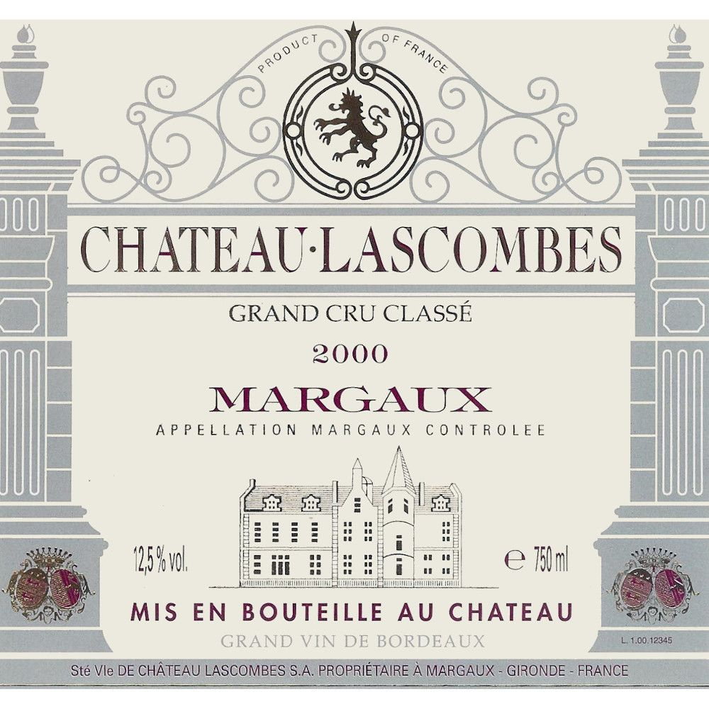 Chateau Lascombes (1.5 Liter Magnum) 2000 Front Label