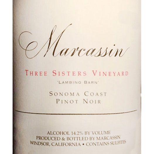 Marcassin Three Sisters Vineyard Lambing Barn Pinot Noir 2000 Front Label