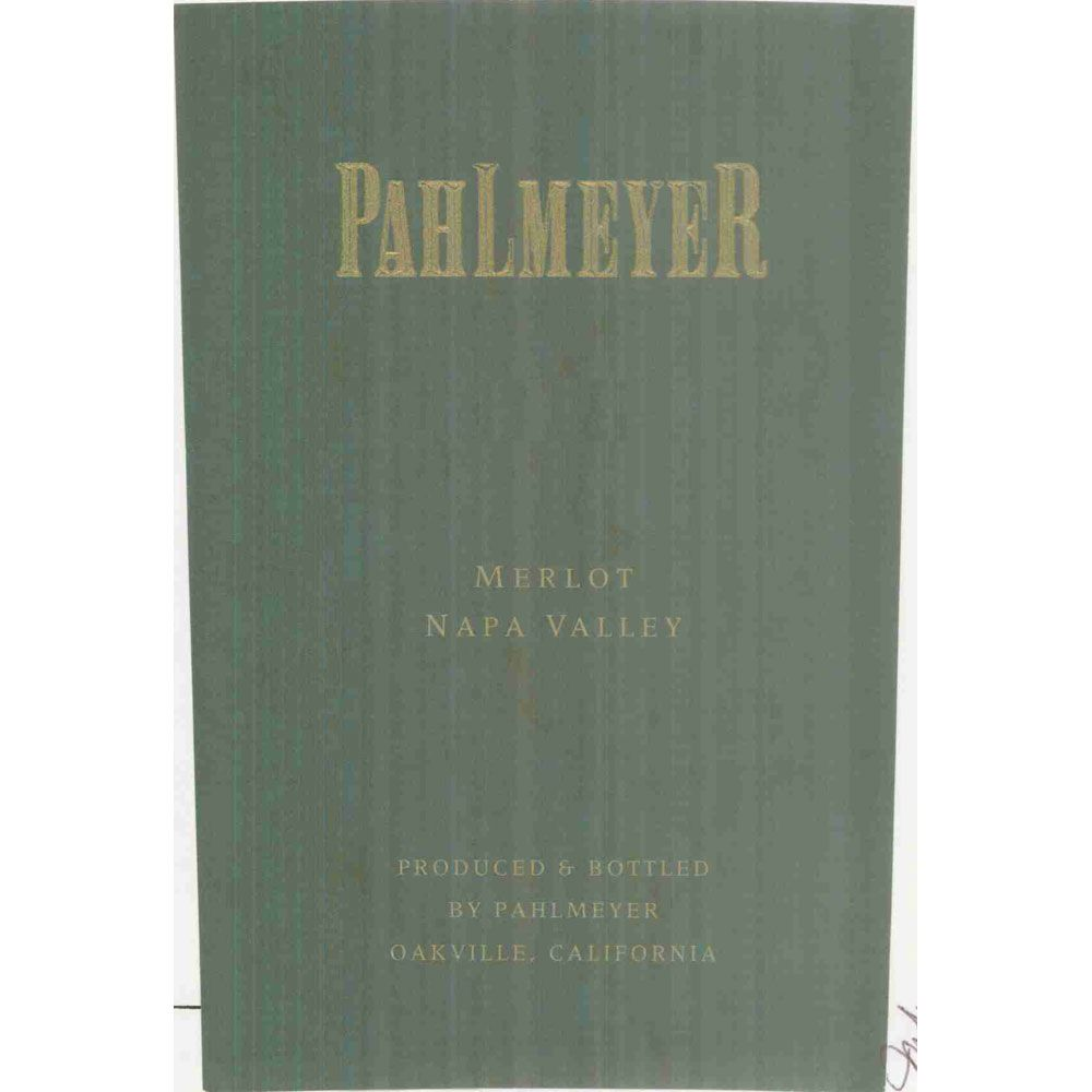 Pahlmeyer Merlot 2000 Front Label