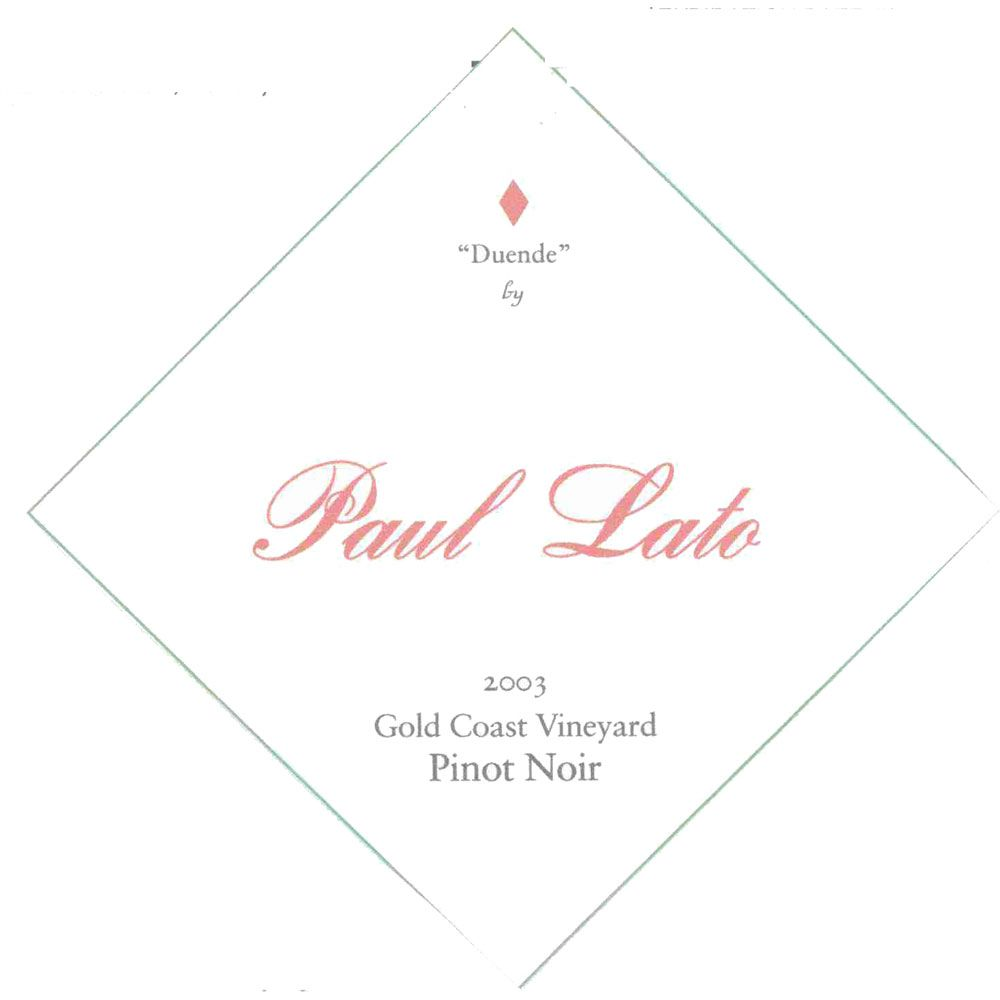 Paul Lato  Duende Gold Vineyard Pinot Noir (1.5 Liter Magnum) 2003 Front Label