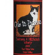 Behrens & Hitchcock Ode to Picasso Red 2001 Front Label