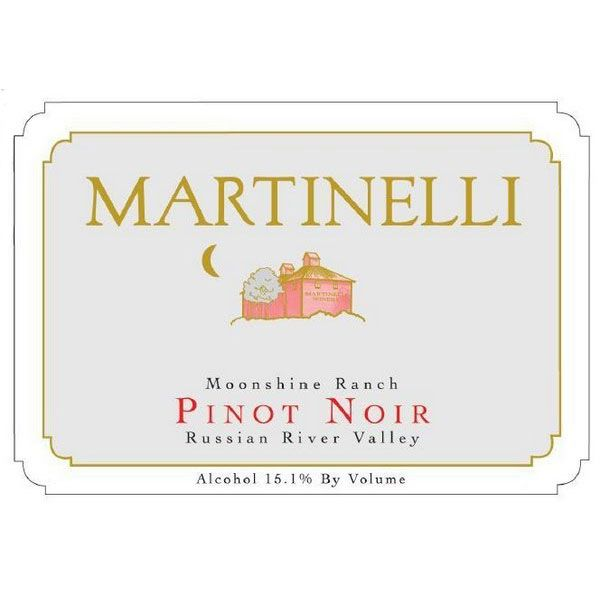 Martinelli Moonshine Ranch Pinot Noir 2000 Front Label